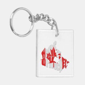 Home of Hockey Canada Map Keychain