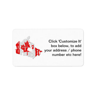 Canadian Maple Leaf Shipping Address Return Address Labels - Map of canada to label