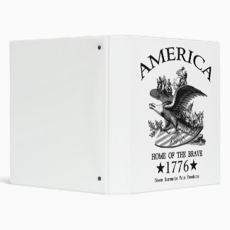 Home Of The Brave 3 Ring Binder