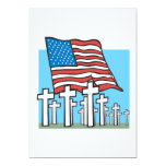 """Home Of The Brave 5"""" X 7"""" Invitation Card"""