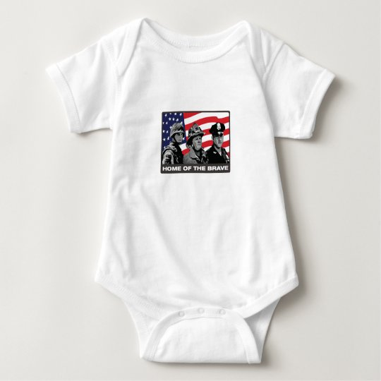 Home of the Brave Baby Bodysuit