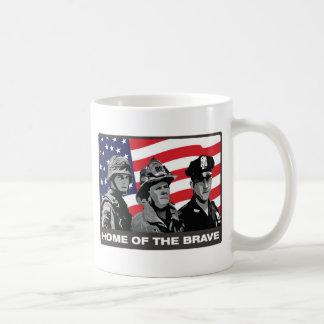 Home of the Brave Classic White Coffee Mug