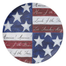 Home of the Brave Flag Plate