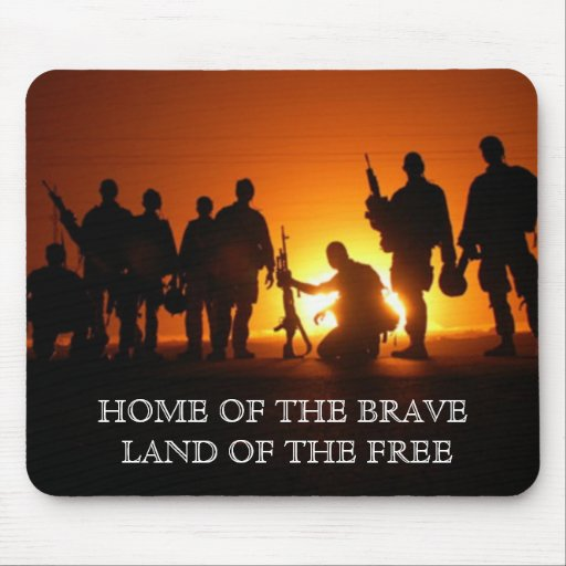 HOME OF THE BRAVE MOUSE PADS