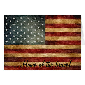 Home of the Brave Notecard