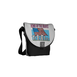 Home Of The Brave.png Courier Bag