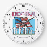 Home Of The Brave.png Round Wallclock