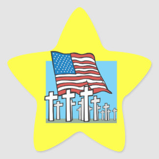 Home Of The Brave Star Stickers