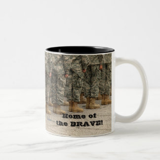 Home of the BRAVE! Two-Tone Coffee Mug