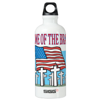 Home Of The Brave Water Bottle