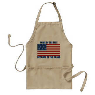 Home Of The Free Because Of The Brave Apron