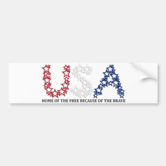 HOME OF THE FREE BECAUSE OF THE BRAVE CAR BUMPER STICKER
