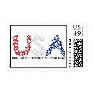 HOME OF THE FREE BECAUSE OF THE BRAVE POSTAGE STAMP
