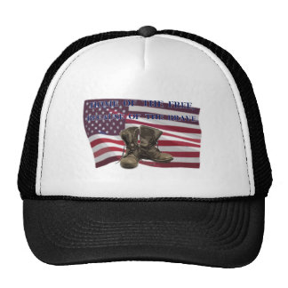 Home of the free, because of the brave. trucker hat