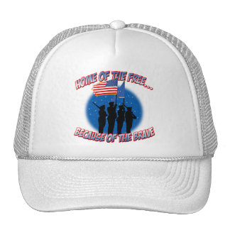 Home of the Free Because of the Brave Trucker Hat