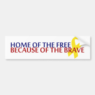 Home of the Free Car Bumper Sticker