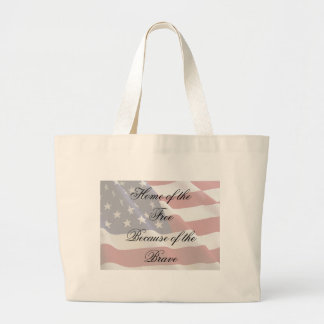 Home of the Free Large Tote Bag