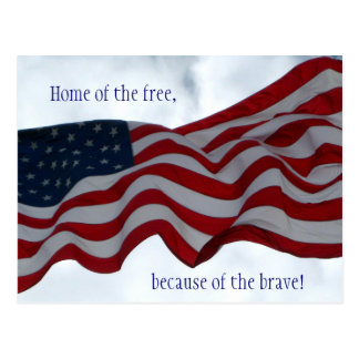 Home of the free ... Veterans Day Postcard