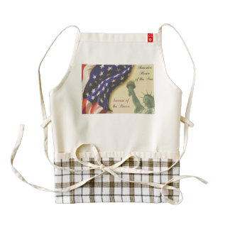 Home of the Free Zazzle HEART Apron