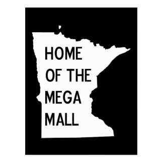Home of the Mega Mall MN Silhouette Postcard