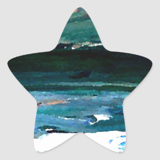 Home of the Sea Ocean Waves Sea Art Star Sticker