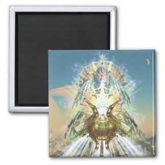 Home of the Vimana, Joseph Maas 2 Inch Square Magnet