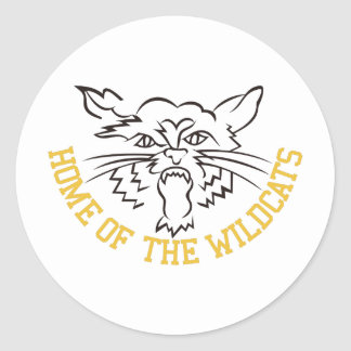 Home of the Wildcats Classic Round Sticker