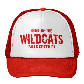 Home Of The, WILDCATS, Falls Creek,PA Trucker Hat