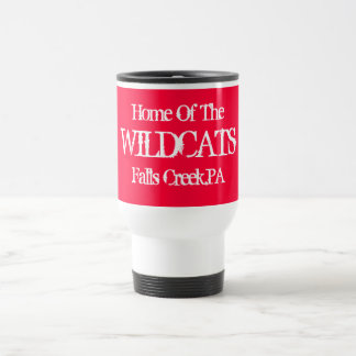 Home Of The, WILDCATS, Falls Creek,PA Travel Mug
