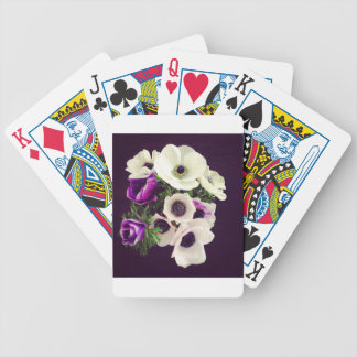 Home Office custom personalize business flowers Bicycle Playing Cards