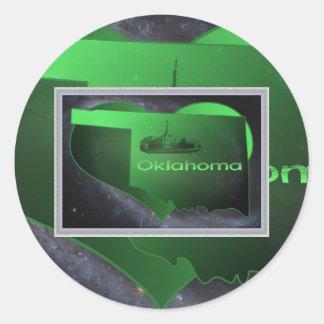 Home Oklahoma, Home Oklahoma Classic Round Sticker