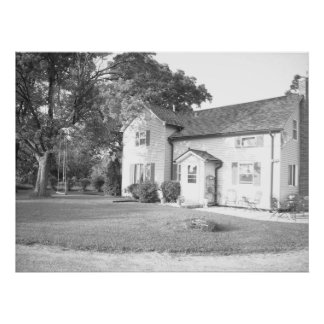 Home on the Farm/Black-and-White Photography Posters