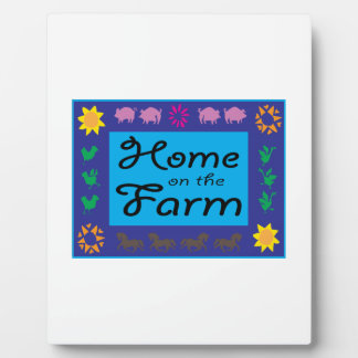 Home On The Farm Photo Plaque