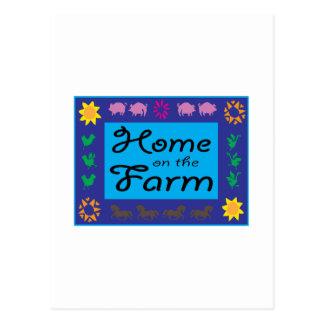 Home On The Farm Postcard