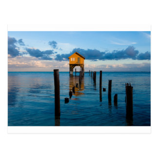 Home on the Ocean in Ambergris Caye Belize Postcard