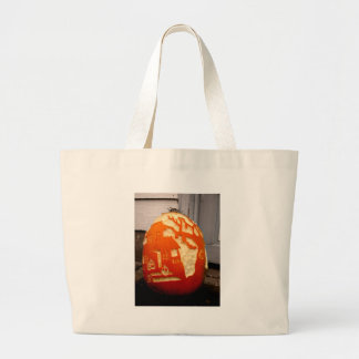 Home on the Pumpkin Large Tote Bag
