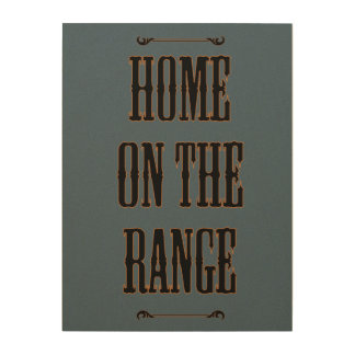 Home on the Range Blue Wood Wall Decor