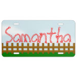 Home On The Range Country Style Personalized License Plate
