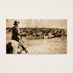 Home On The Range Vintage Cowboy Old West Business Card at Zazzle