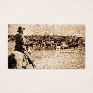 Home on the Range Vintage Cowboy Old West Business Card