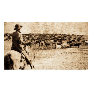 Home on the Range Vintage Cowboy Old West Double-Sided Standard Business Cards (Pack Of 100)