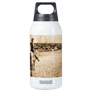 Home on the Range Vintage Cowboy Old West Insulated Water Bottle
