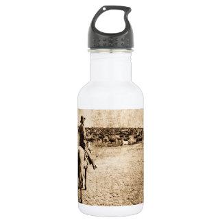 Home on the Range Vintage Cowboy Old West 18oz Water Bottle