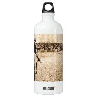 Home on the Range Vintage Cowboy Old West SIGG Traveler 1.0L Water Bottle