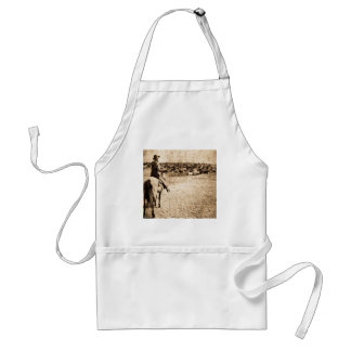 Home on the Range Vintage Lone Cowboy Rancher Adult Apron