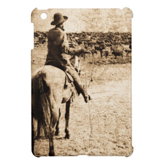 Home on the Range Vintage Lone Cowboy Rancher iPad Mini Case