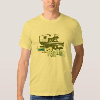 Home on the Roam retro pickup camper truck RV T Shirt