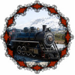 Home on the Train for Christmas Ornament Photo Sculpture Ornament