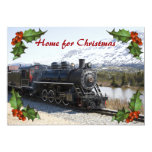 """Home on the Train for Christmas Party Invitation 5"""" X 7"""" Invitation Card"""