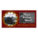 Home on the Train for Christmas Photo Card